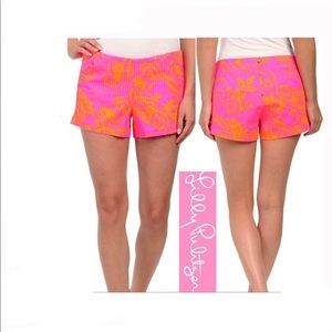 Lilly Pulitzer Liza Shorts Pop Pink Seaesta Size 2